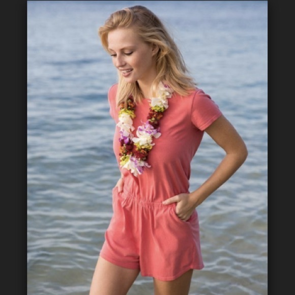 NWT Marine Layer Terry Out Romper in Cherry Size S